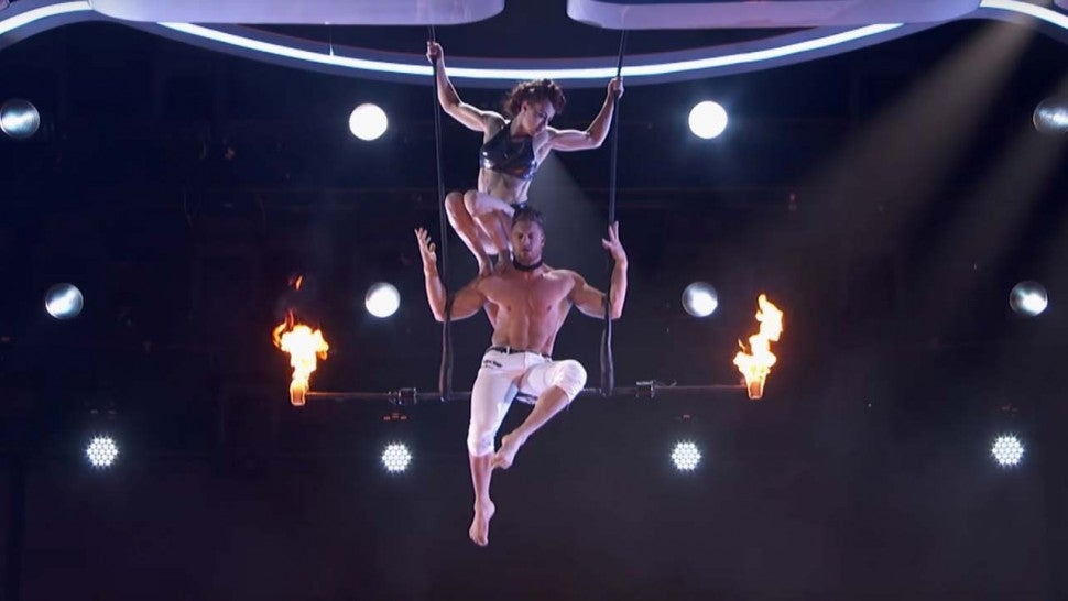 Husband and Wife Trapeze Act Duo Transcend performs on 'America's Got Talent'