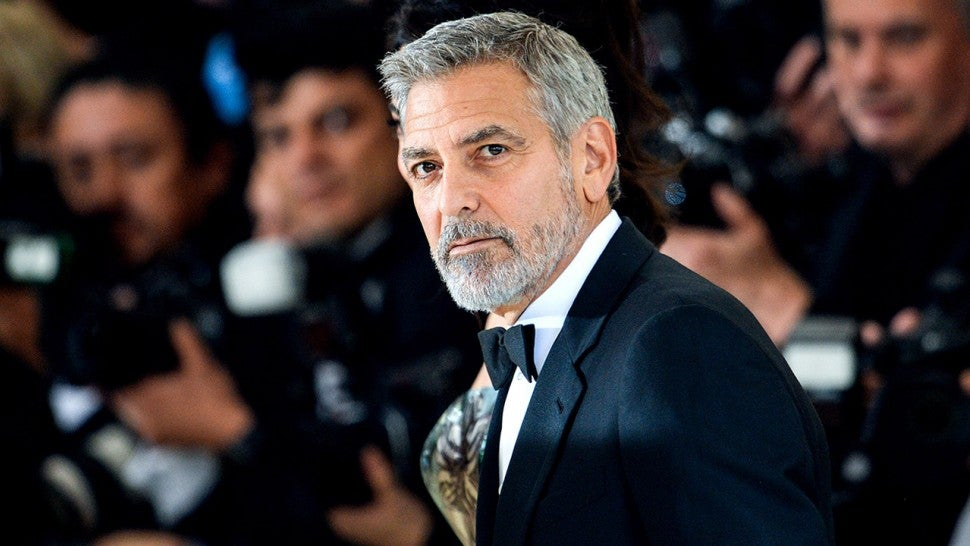 George Clooney has been injured in a motorcycle accident in Sardinia