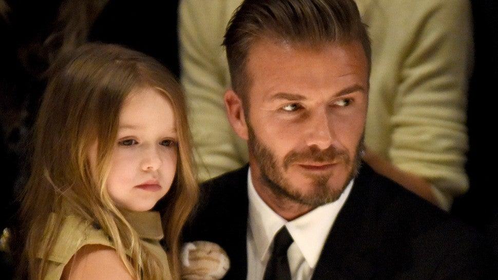 7fc71aacf470 David Beckham Cuts Daughter Harper's Hair in Sweet Photo ...