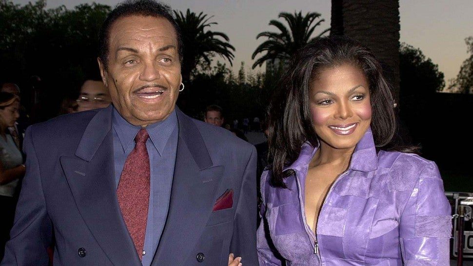 Janet Jackson and her father, Joe Jackson, in 2000