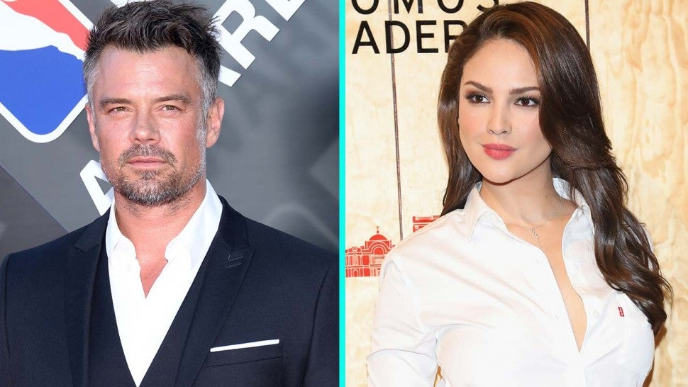 Josh Duhamel and girlfriend Eiza Gonzalez (split pic)