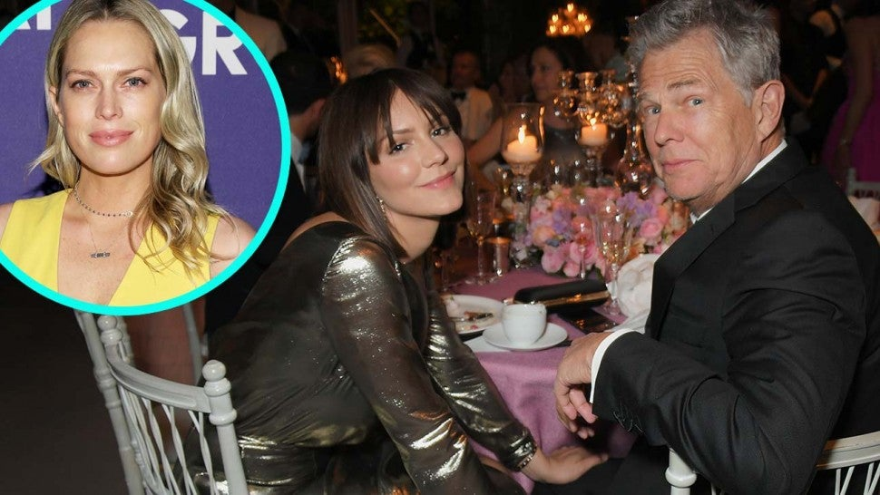 David Foster and fiancee Katharine McPhee with Erin Foster (inset)