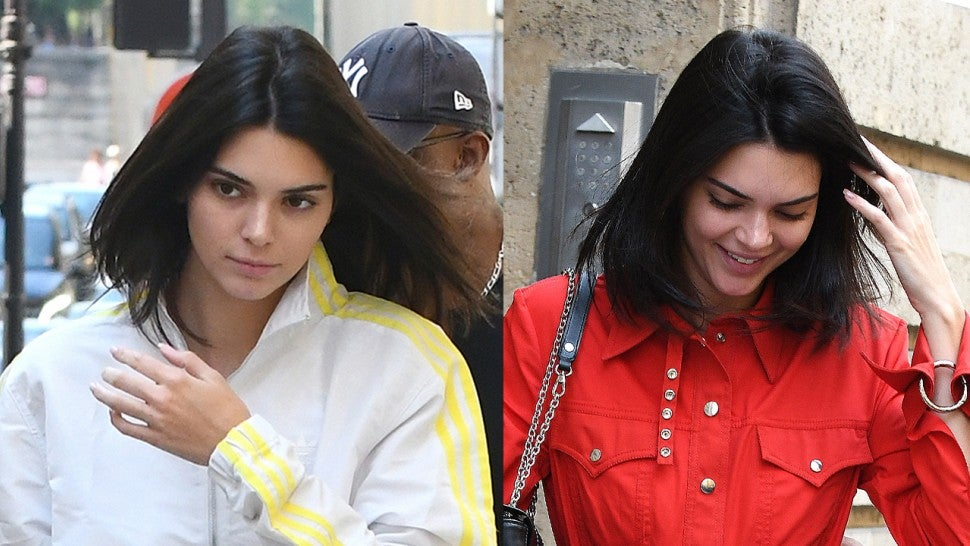 Kendall Jenner in Two Matching Sets Paris Outfits