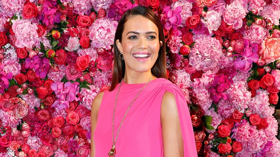 Mandy Moore pink dress Paris couture week