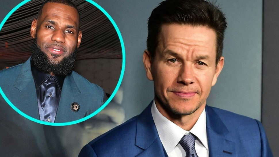 Mark Wahlberg and LeBron James (inset)