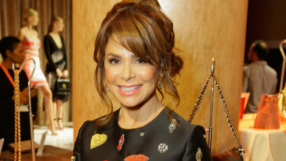 Paula Abdul falls off stage during concert performance