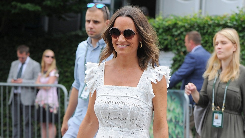 Pippa Middleton white eyelet dress