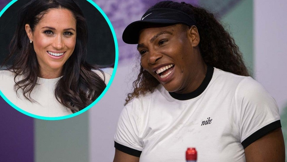 Serena Williams and Meghan Markle, Duchess of Sussex (inset)