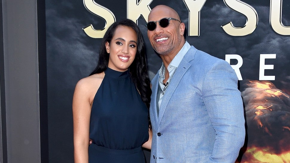 Simone and Dwayne Johnson
