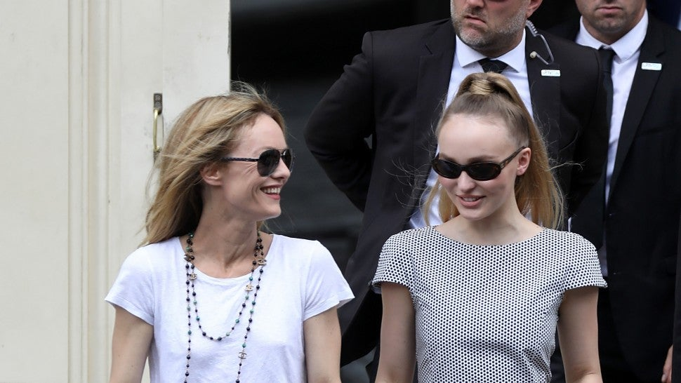 newlywed vanessa paradis beams as she steps out with