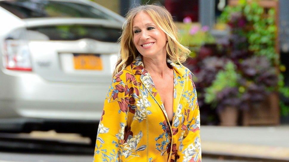 a17877af6 Sarah Jessica Parker Channels Carrie Bradshaw With This Bright, Colorful  Outfit -- See Her Look!