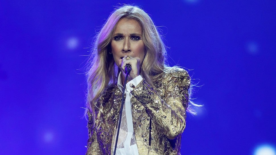 Celine Dion gold suit