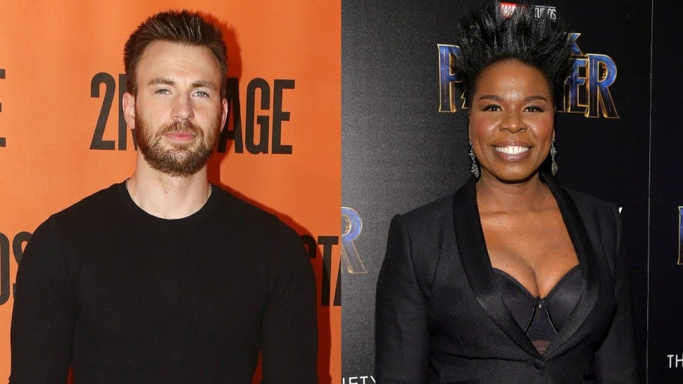 CHris Evans and Leslie Jones