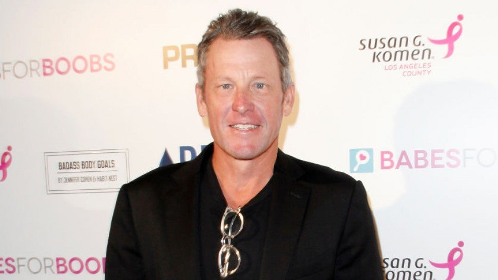 Lance Armstrong shares bloody selfie after bike crash