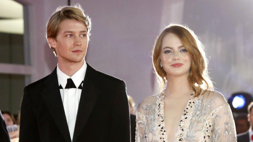 Taylor Swift's Boyfriend Joe Alwyn Looks Very Dapper With Emma Stone