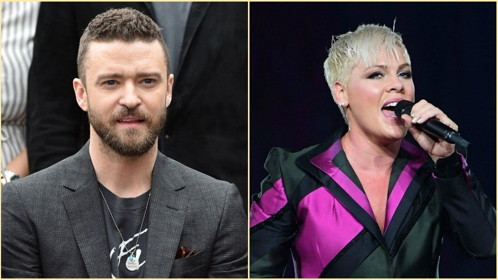 Justin Timberlake and Pink