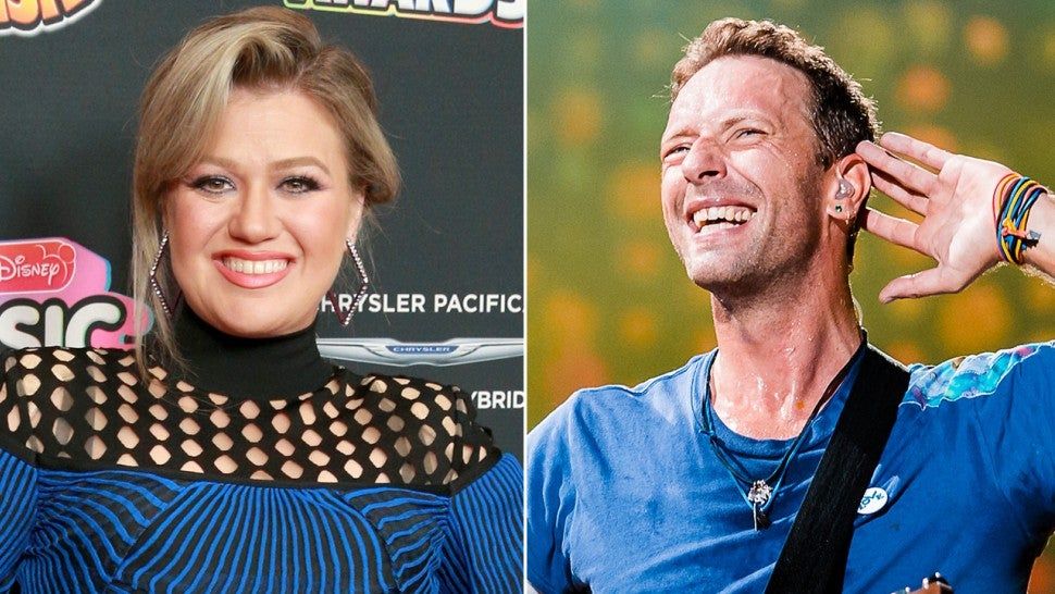 Kelly Clarkson and Chris Martin