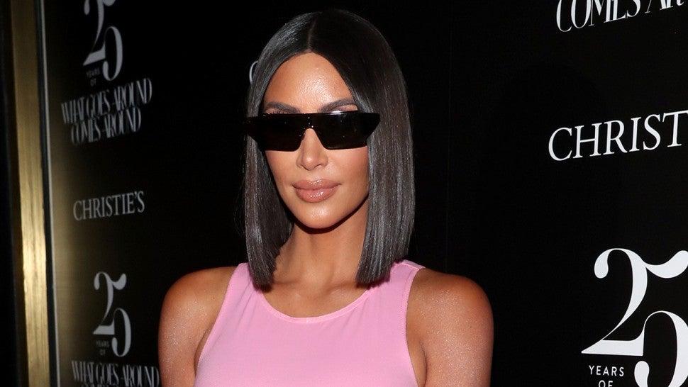 Kim Kardashian Body Pink Dress