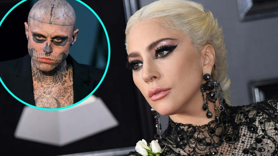 Lady Gaga and model Rick Genest (a.k.a. Zombie Boy)