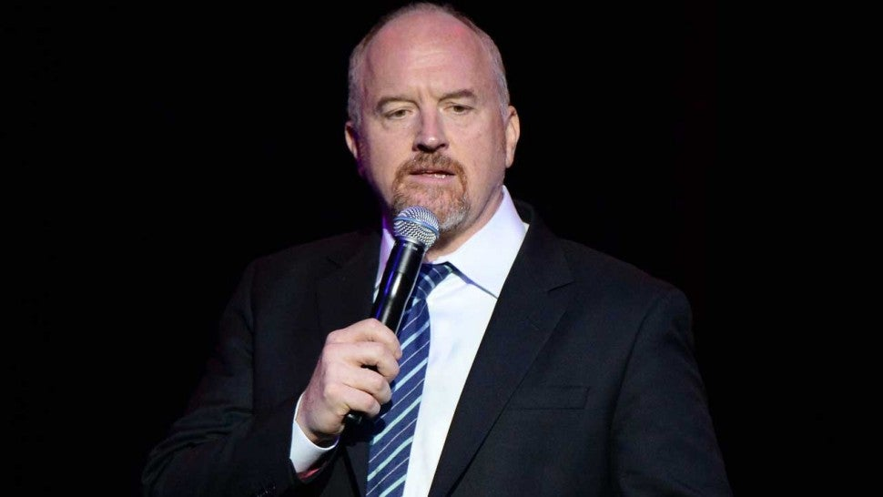 Louis CK receives standing ovation as he returns to comedy stage