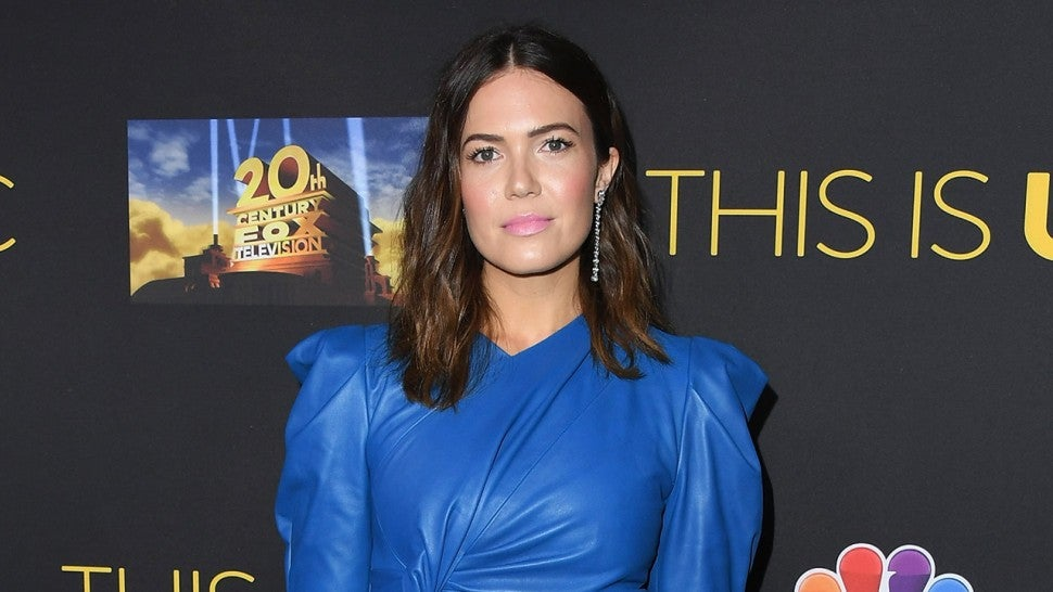 Mandy Moore blue Isabel Marant dress