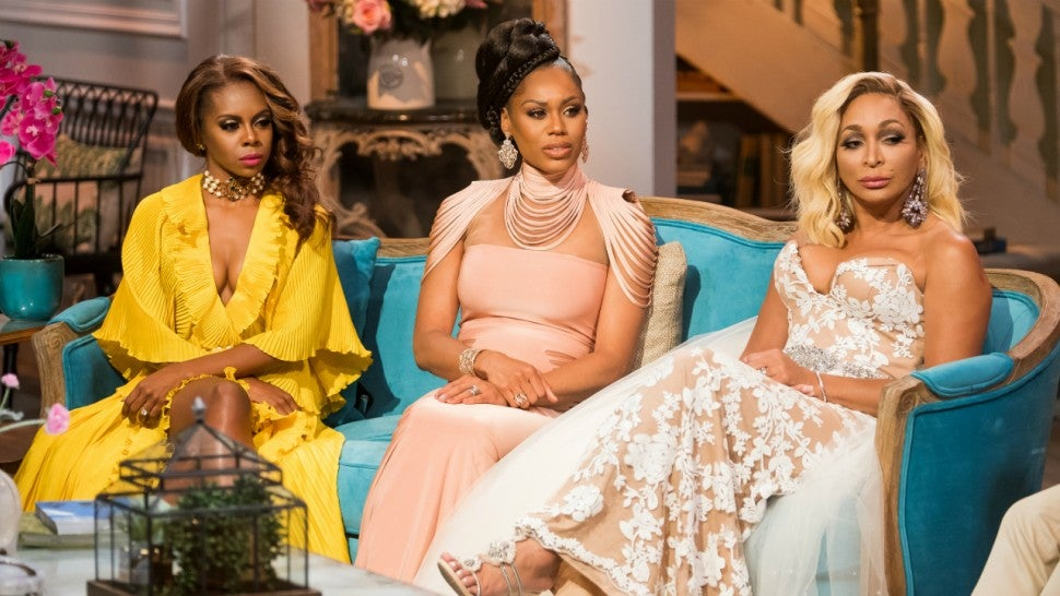 Candiace Dillard, Monique Samuels and Karen Huger at 'The Real Housewives of Potomac' season three reunion.