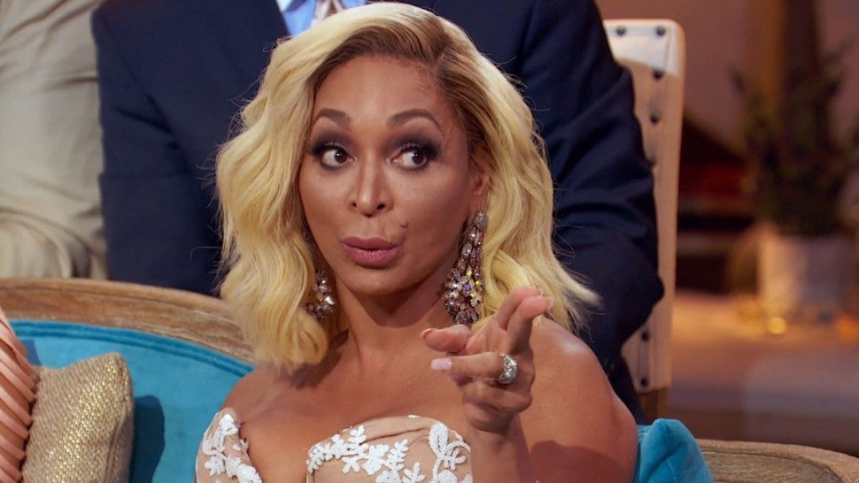 Karen Huger at the 'Real Housewives of Potomac' season three reunion.