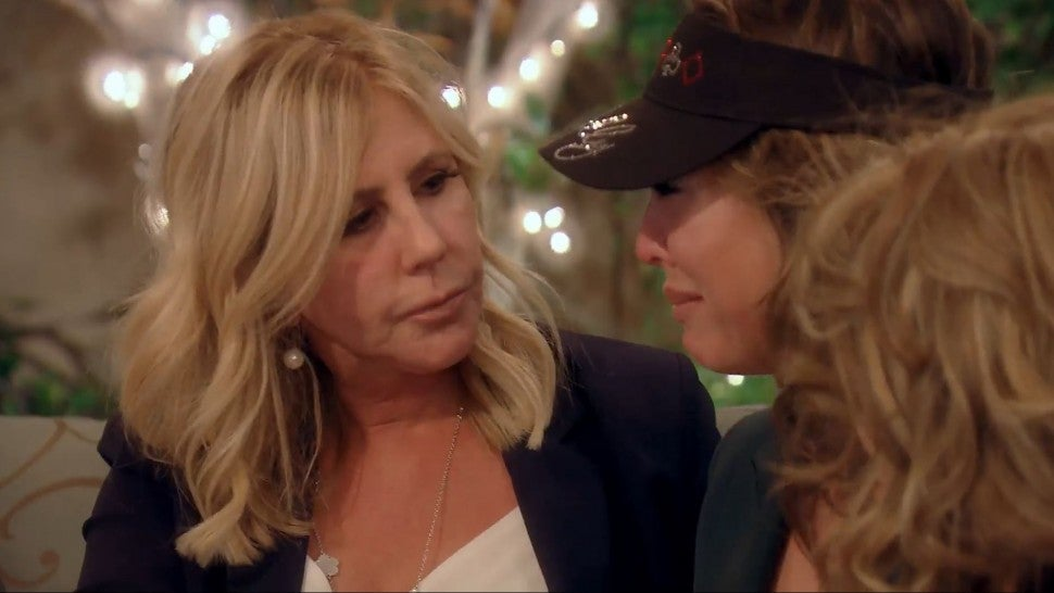 Kelly Dodd and Vicki Gunvalson have an emotional chat on Bravo's 'The Real Housewives of Orange County.'