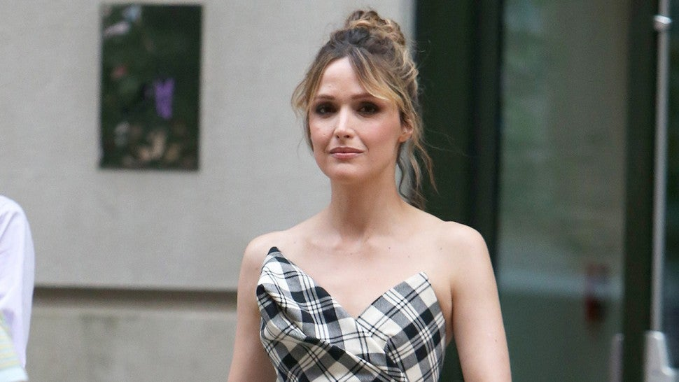 Rose Byrne in plaid Monse top