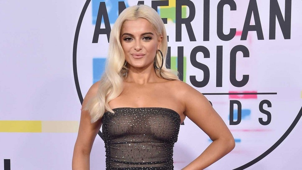 Bebe Rexha at the 2017 American Music Awards