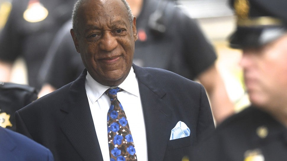Bill Cosby outside the Montgomery County Courthouse on the first day of sentencing in his sexual assault trial on September 24, 2018 in Norristown, Pennsylvania.