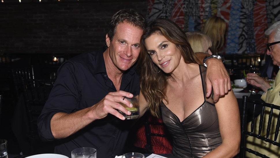 Rande Gerber and Cindy Crawford during nyfw