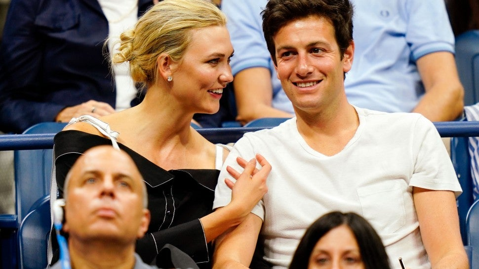 Karlie Kloss and fiance at US Open