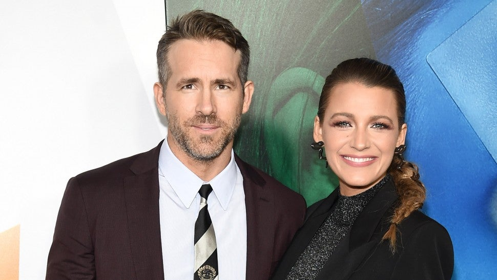 Ryan Reynolds and Blake Lively at a simple favor premiere in nyc