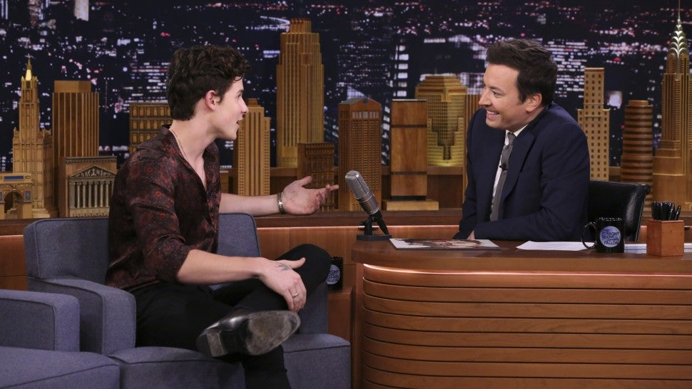 Shawn Mendes and Jimmy Fallon