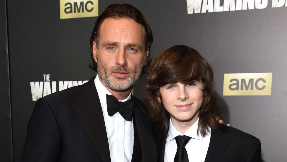Walking dead star andrew lincoln talked about leaving before his walking dead star andrew lincoln talked about leaving before his exit chandler riggs says exclusive m4hsunfo