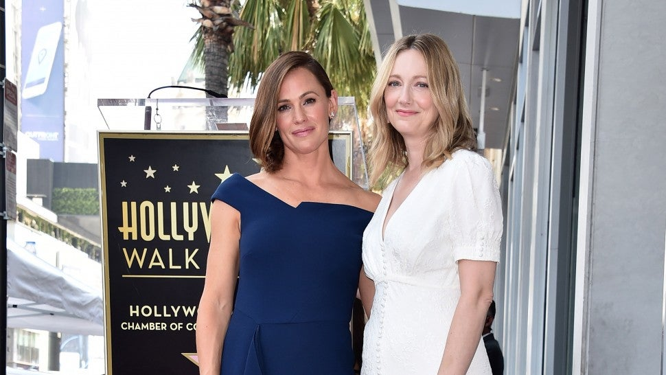 Jennifer Garner and Judy Greer attend the ceremony honoring Jennifer Garner with the 2,641st star on the Hollywood Walk Of Fame on August 20, 2018 in Hollywood, California.