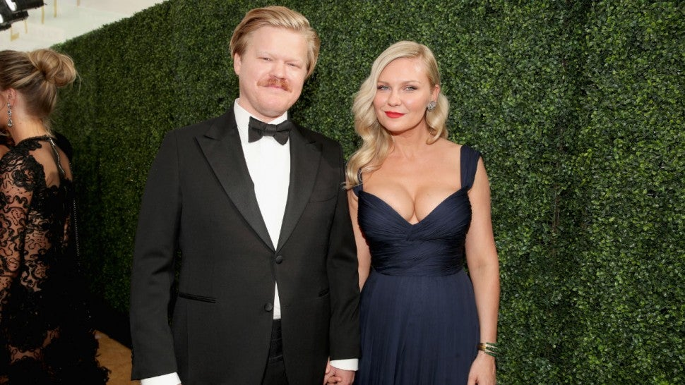 Kirsten Dunst Poses on Emmys Red Carpet With Jesse Plemons ...