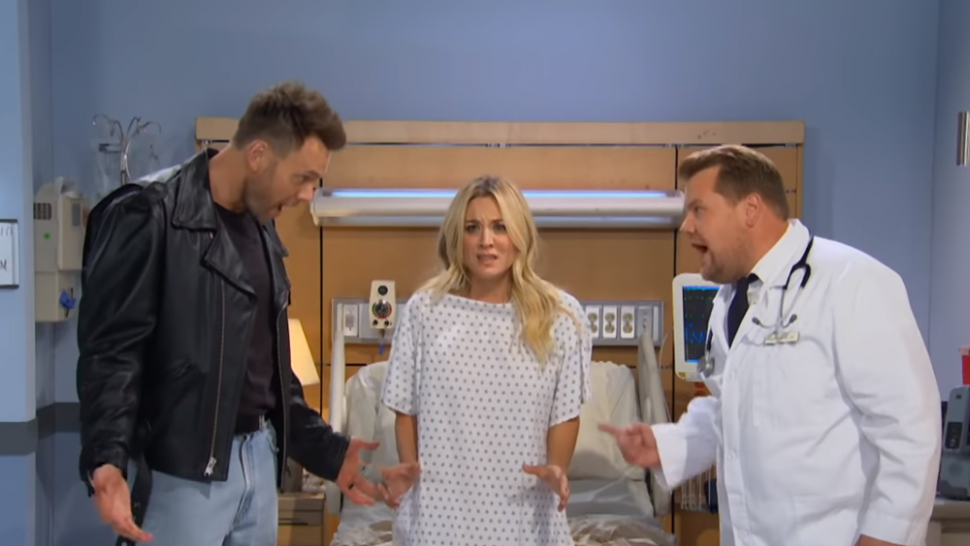 Kaley Cuoco Acts Out Drake Lyrics During Soap Opera Sketch With James Corden and Joel McHale
