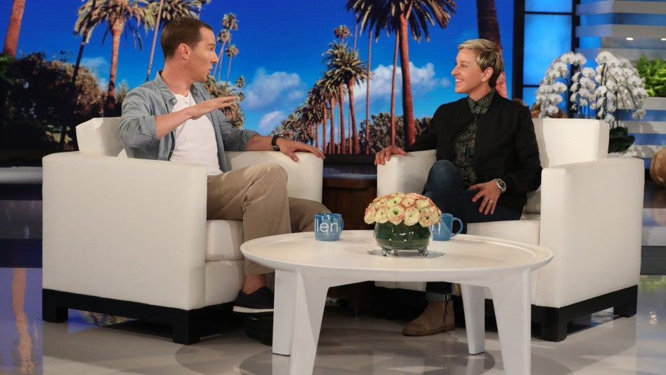 Benedict Cumberbatch and Ellen DeGeneres
