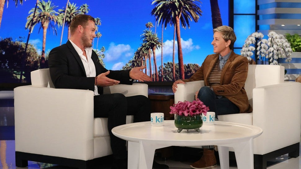 Colton Underwood and Ellen DeGeneres