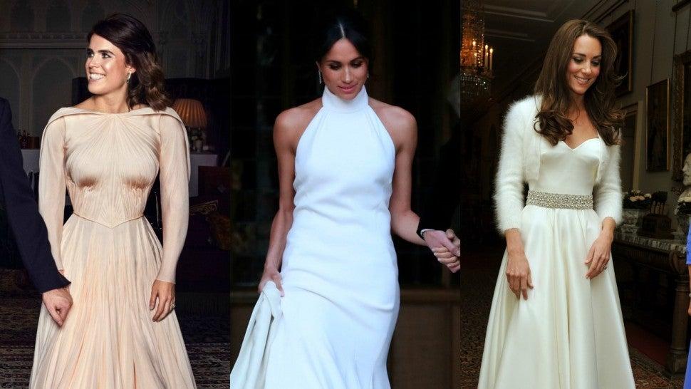 1cbfea8301 How Princess Eugenie s Wedding Reception Dress Compares to Kate Middleton  and Meghan Markle s