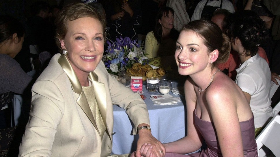 Julie Andrews and Anne Hathaway