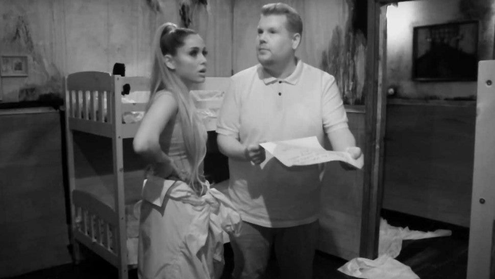Ariana Grande Loses It During Escape Room Adventure With James Corden
