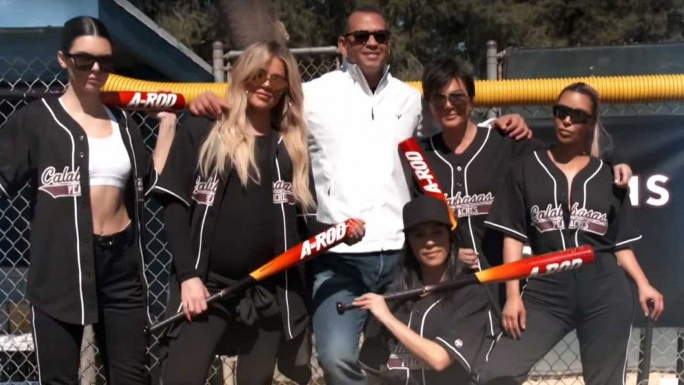 Alex Rodriguez comes out to coach the Kardashian family at a softball game on 'KUWTK'