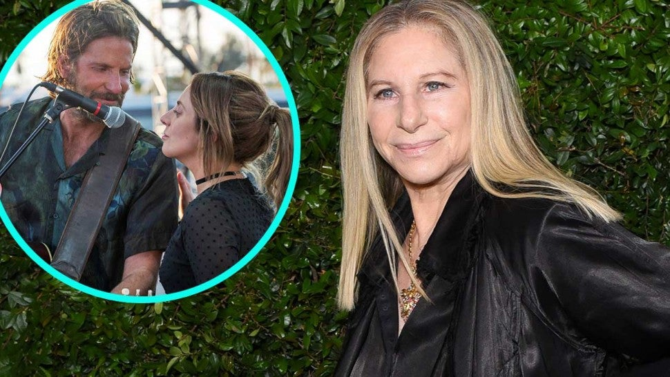 Barbra Streisand and Bradley Cooper with Lady Gaga in 'A Star Is Born' Remake (inset)