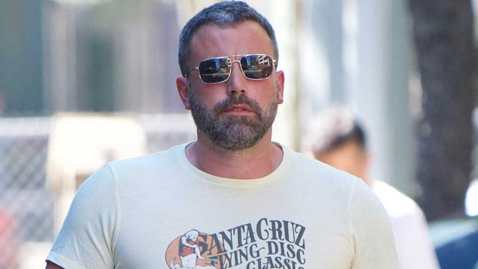 Ben Affleck walks around in Los Angeles on Oct. 1