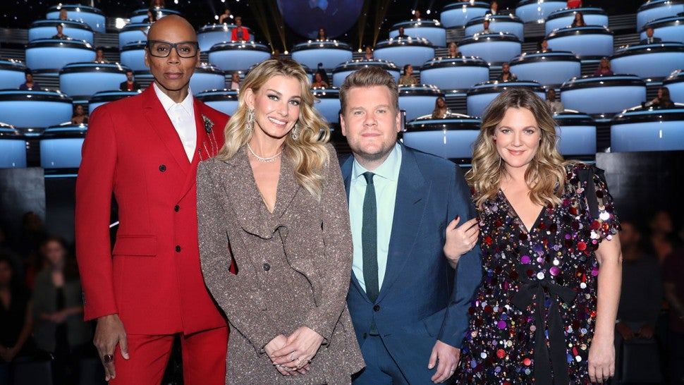 DREW BARRYMORE,  RUPAUL CHARLES, JAMES CORDEN AND FAITH HILL