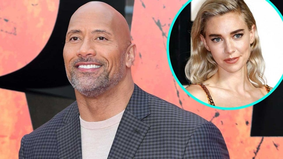 Dwayne Johnson and Vanessa Kirby (inset)