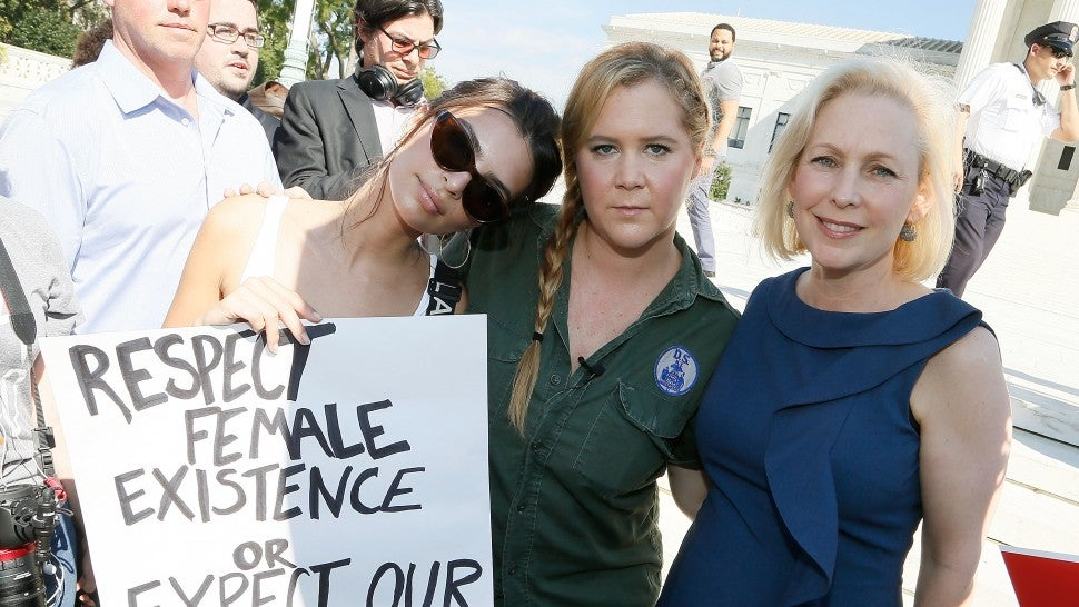 Amy Schumer and Emily Ratajkowski Detained at Brett Kavanaugh Protest